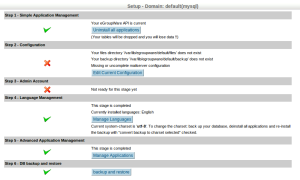 egroupware setup